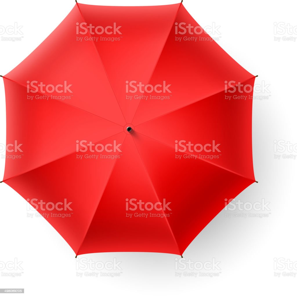 Red umbrella vector art illustration