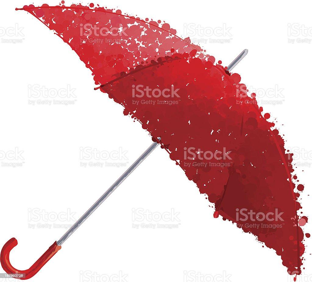 Guarda-chuva vermelho vetor ilustração vetor e ilustração royalty-free royalty-free