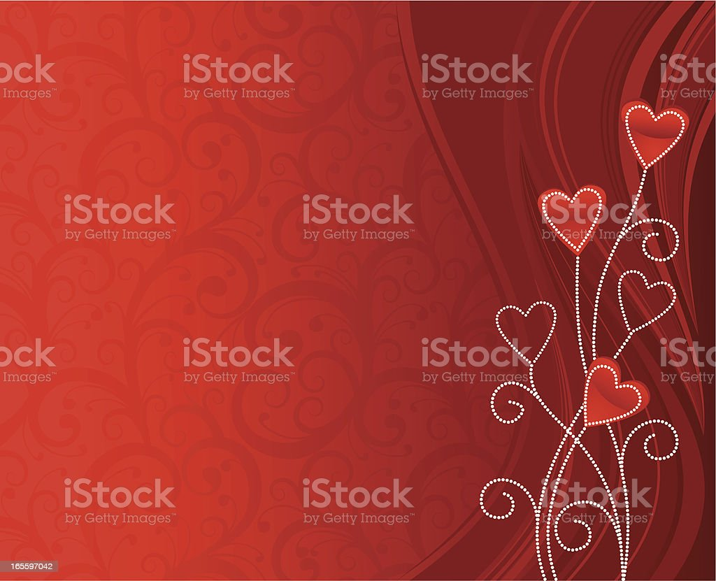 Red valentine royalty-free stock vector art