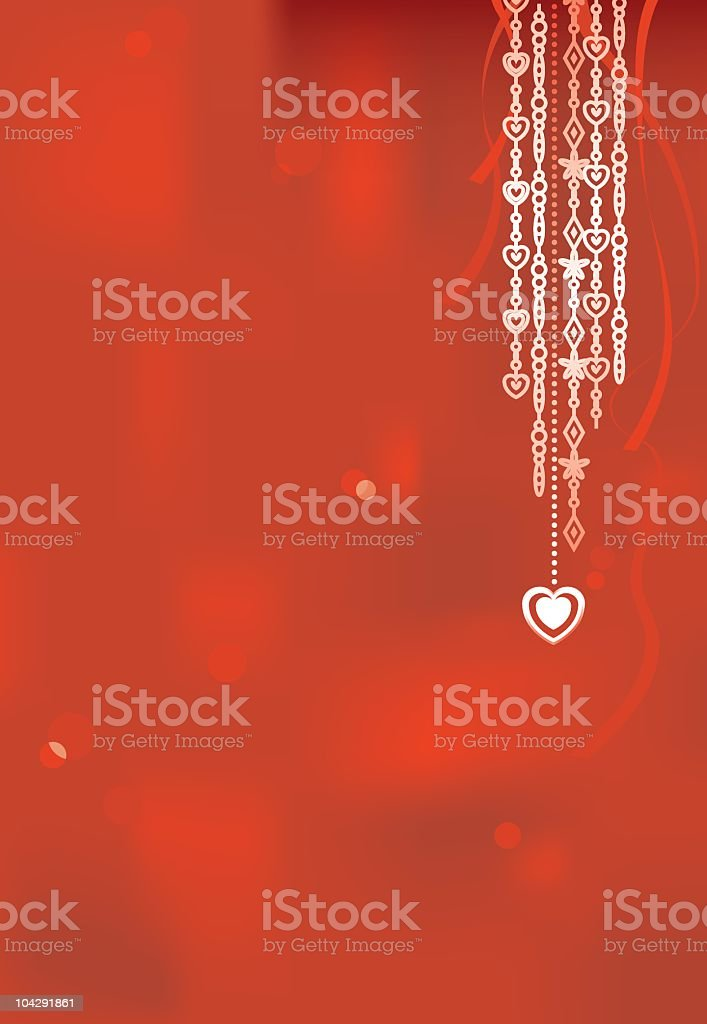 Red Valentine's background royalty-free stock vector art