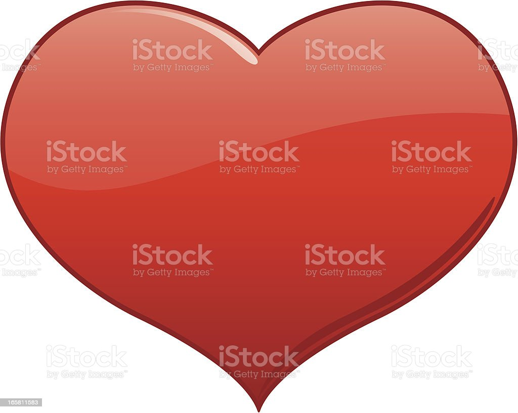 Red Valentine's Day Holiday Love Heart Vector Illustration royalty-free stock vector art