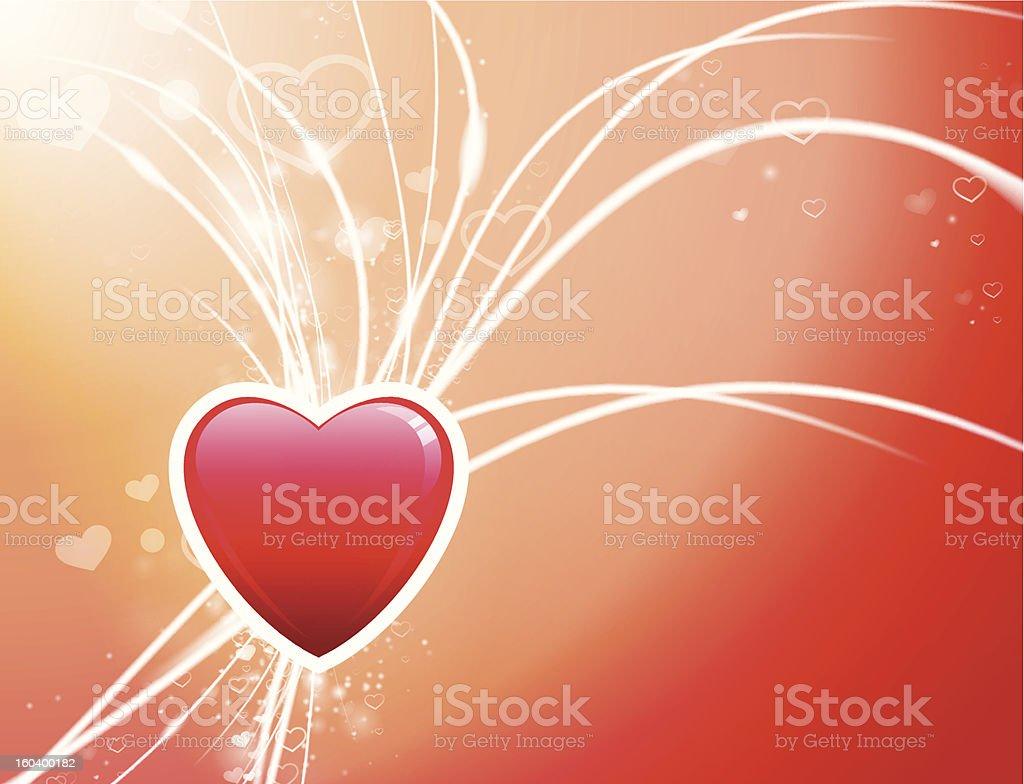 Red Valentine's Heart Fiber Optic background royalty-free stock vector art