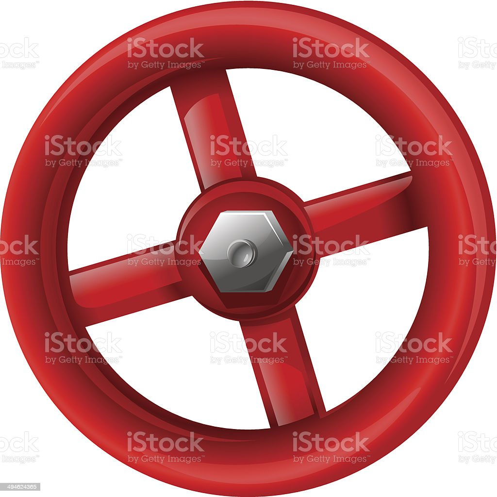 Red valve royalty-free stock vector art