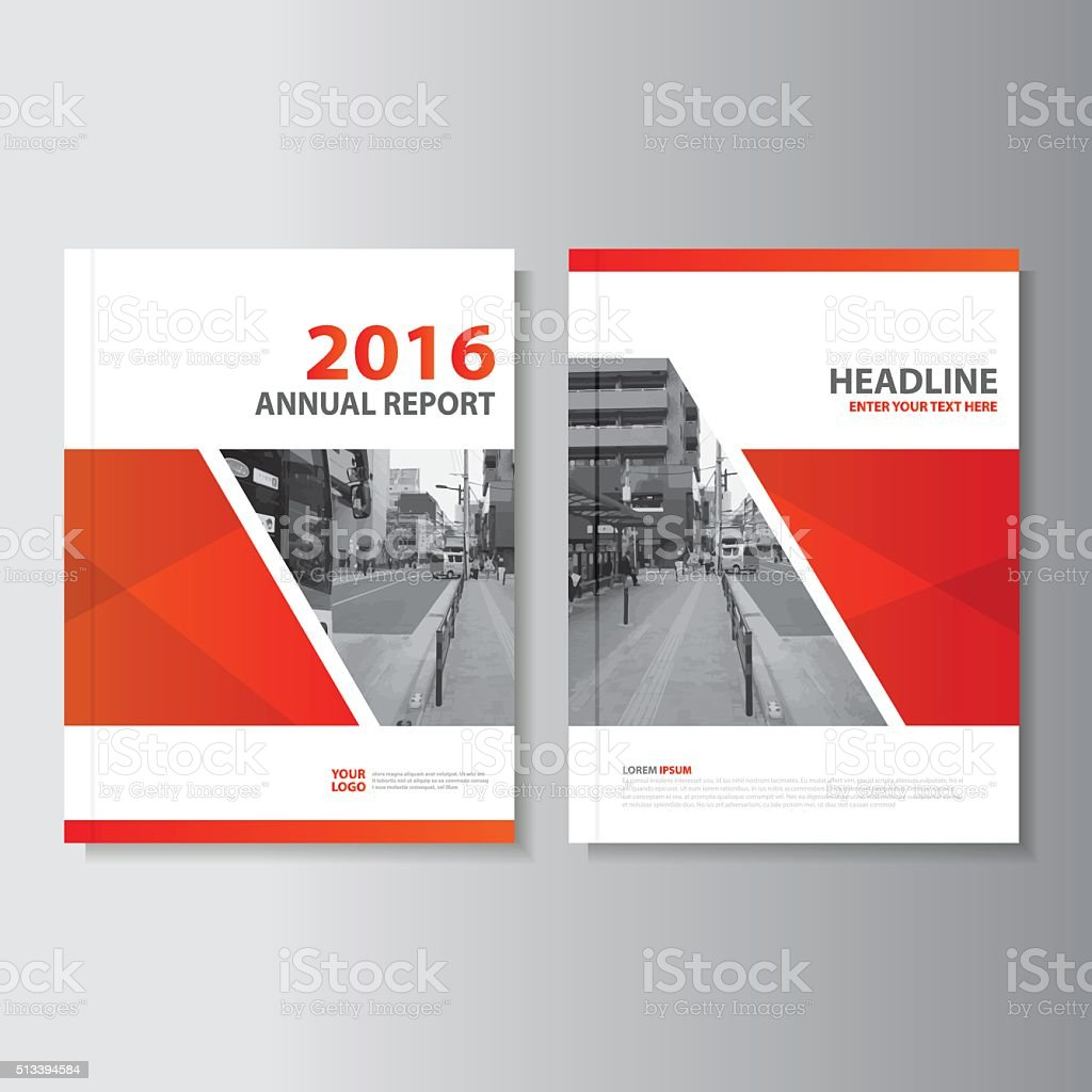 Red Vector annual report Leaflet Brochure Flyer template design vector art illustration