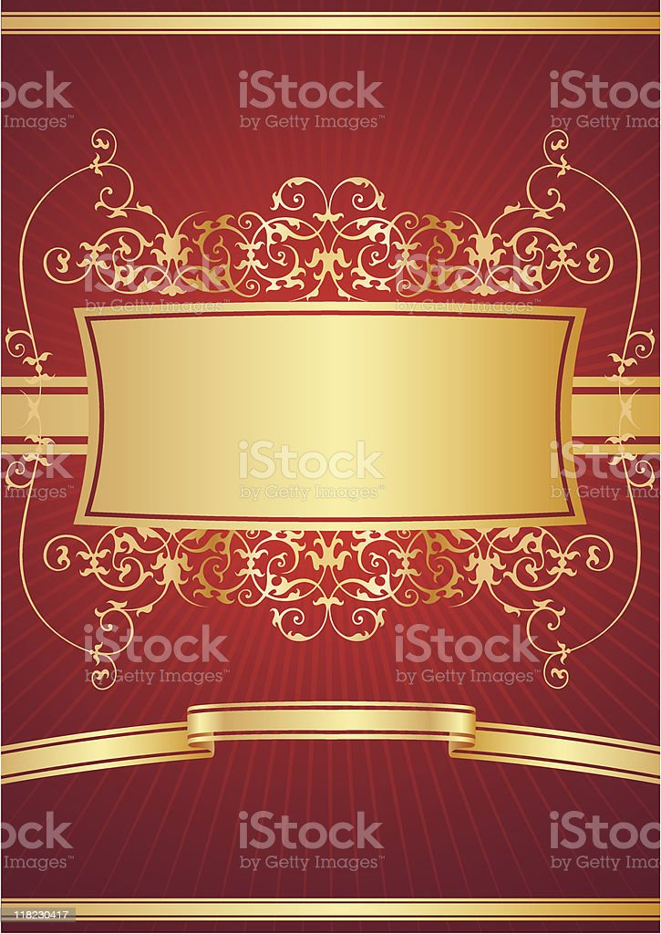 Red vector frame royalty-free stock vector art
