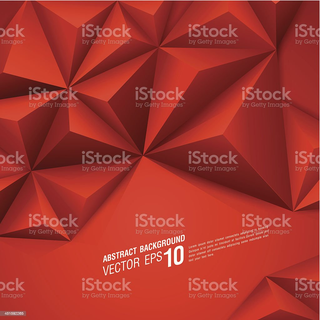 Red vector geometric background. vector art illustration
