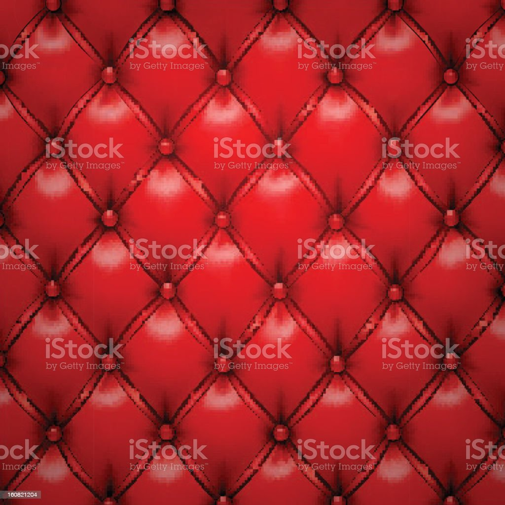 Red vector upholstery leather pattern background. vector art illustration