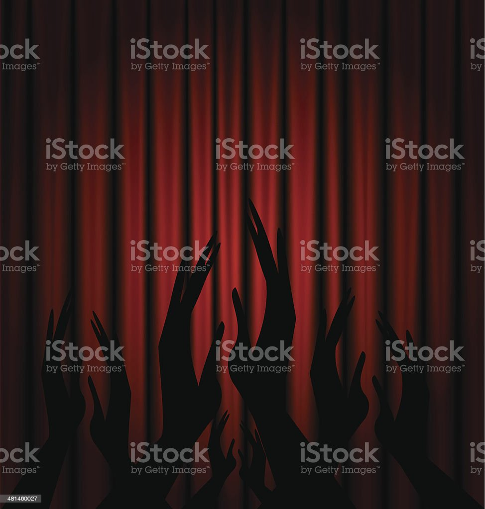 red velum and applouse royalty-free stock vector art