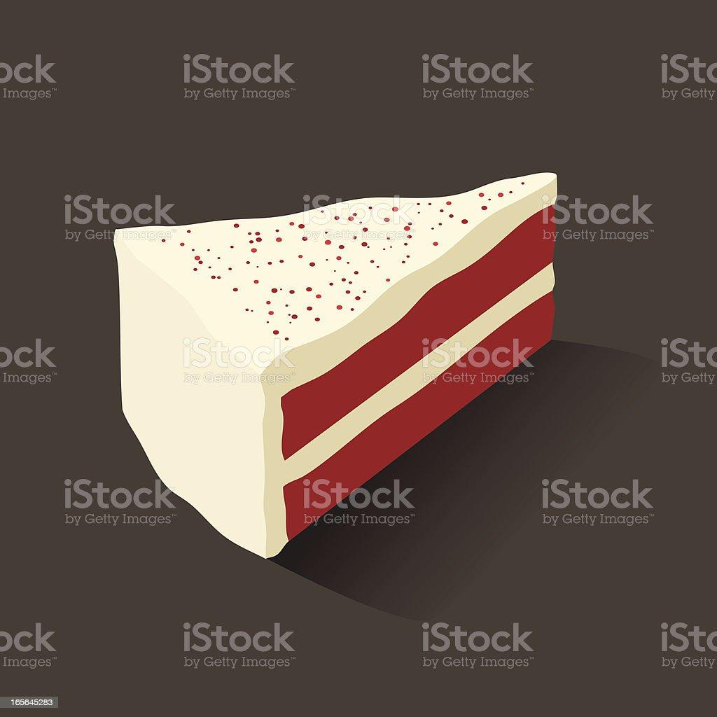 Red Velvet Cake royalty-free stock vector art