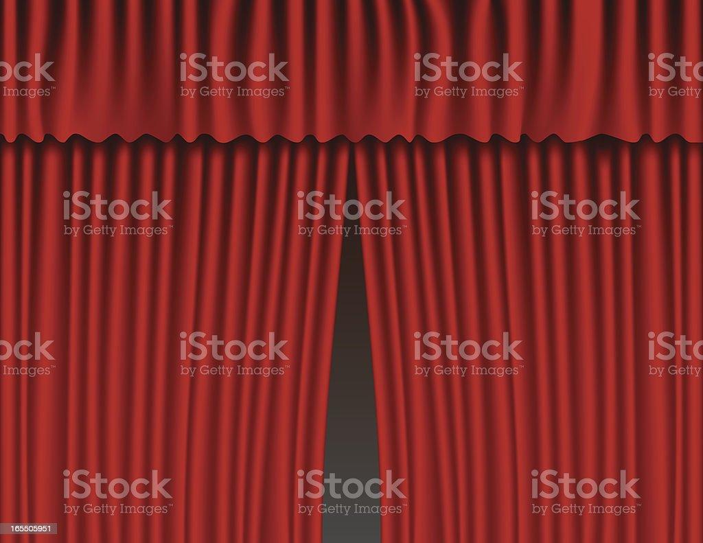 Red Velvet Curtains vector art illustration