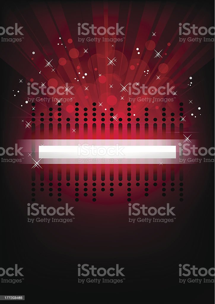 Red vertical music background. royalty-free stock vector art
