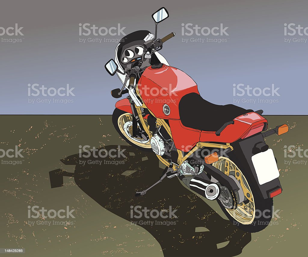Red Vintage Bike royalty-free stock vector art