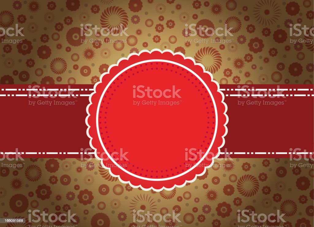 red vintage card royalty-free stock vector art