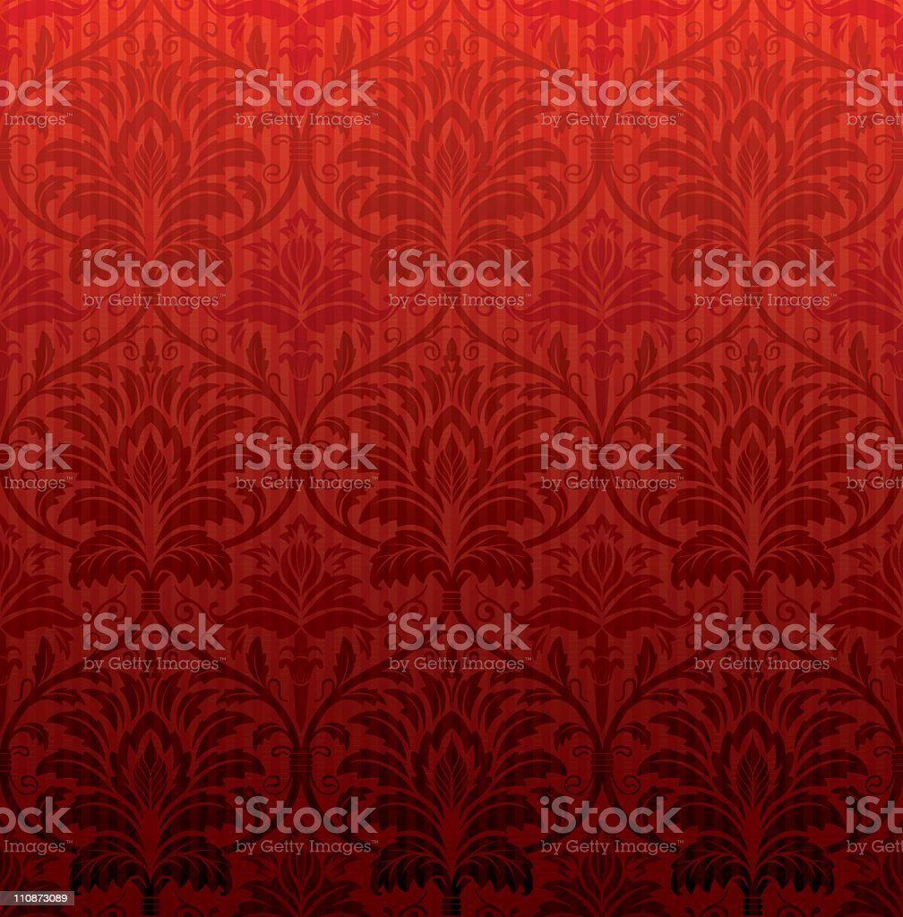 Red vintage seamless wallpaper royalty-free stock vector art