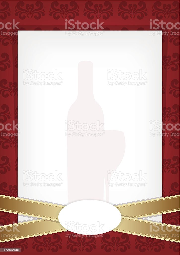 Red vintage wine background with place for text. royalty-free stock vector art