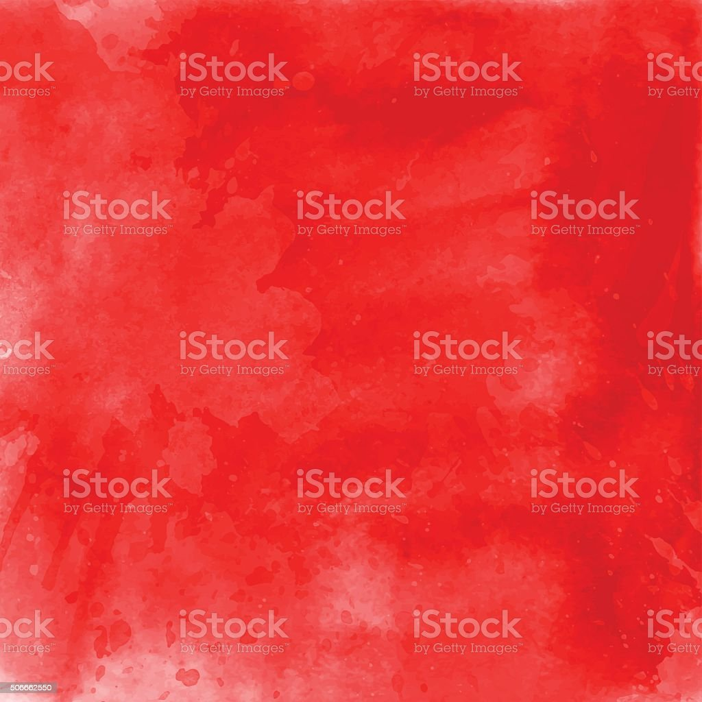 Red watercolour background vector art illustration