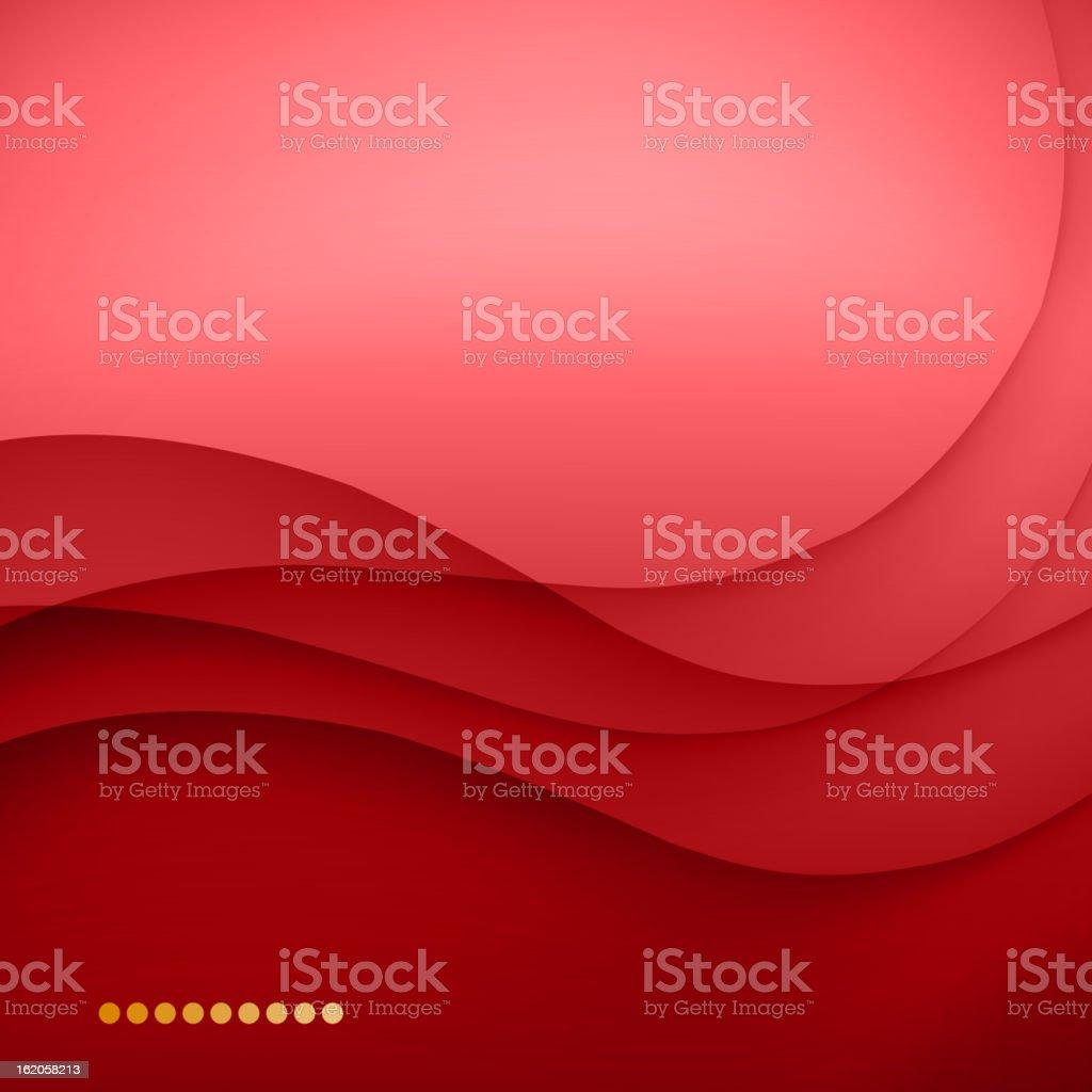 Red waved background vector art illustration