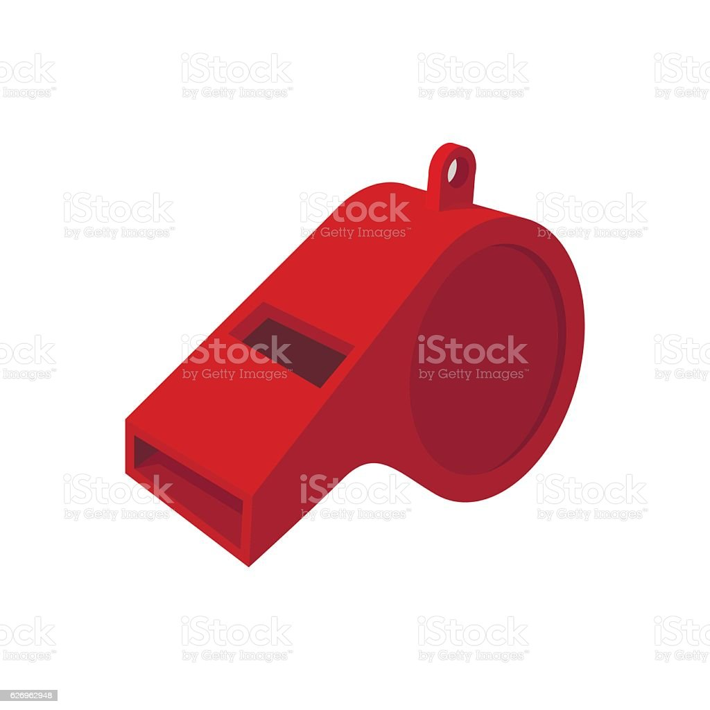 Red whistle cartoon icon vector art illustration