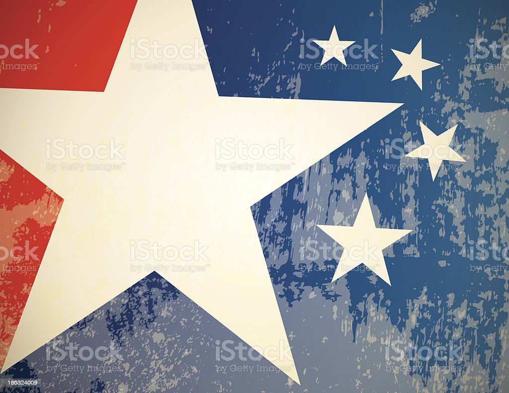 Red, white, and blue star pattern royalty-free stock vector art