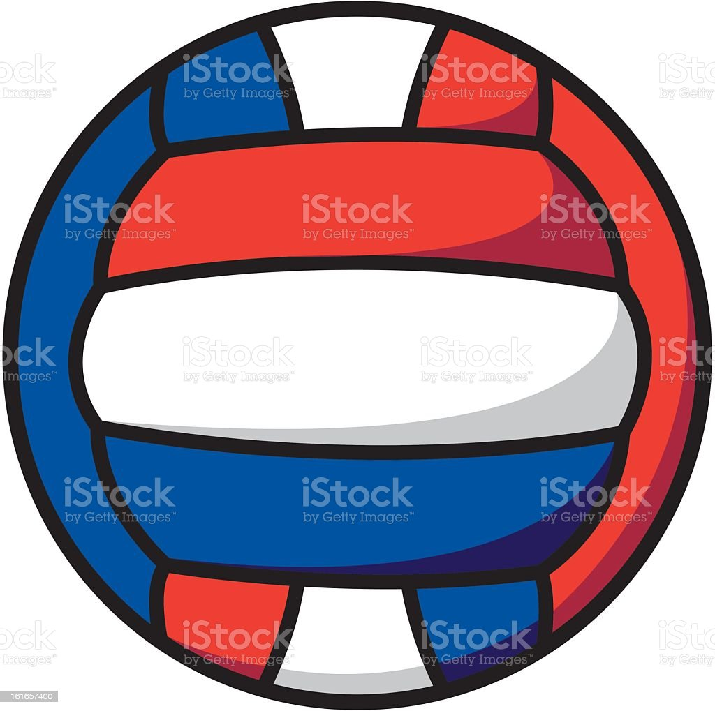 Red, White and Blue Volleyball royalty-free stock vector art