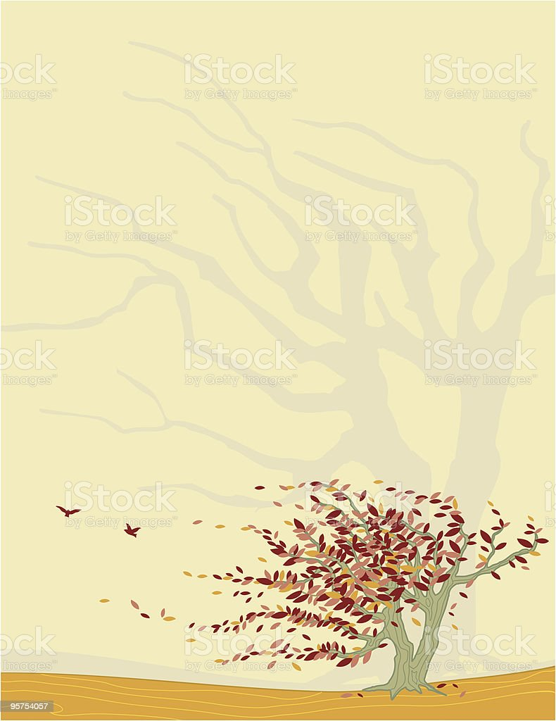 Red Willow royalty-free stock vector art