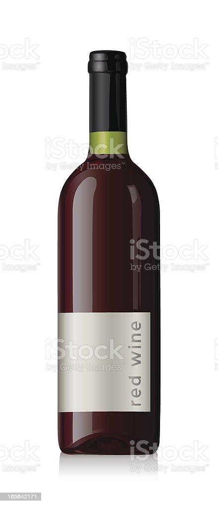 Red wine bottle royalty-free stock vector art
