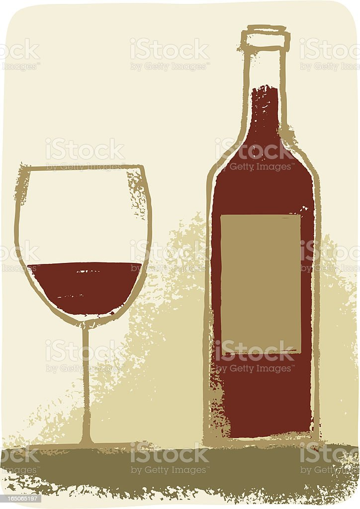 Red Wine Time! royalty-free stock vector art