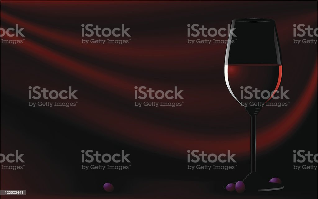 Red wine vector background vector art illustration