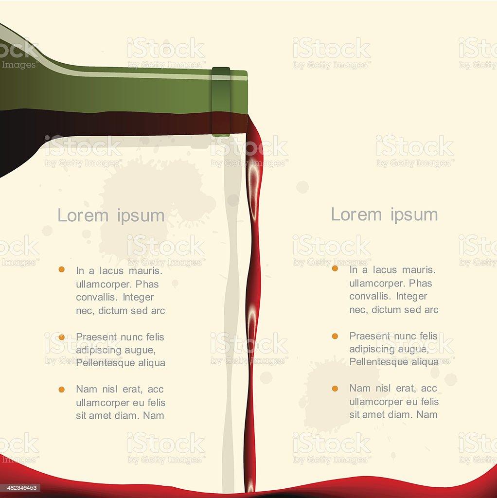 Red wine vector art illustration