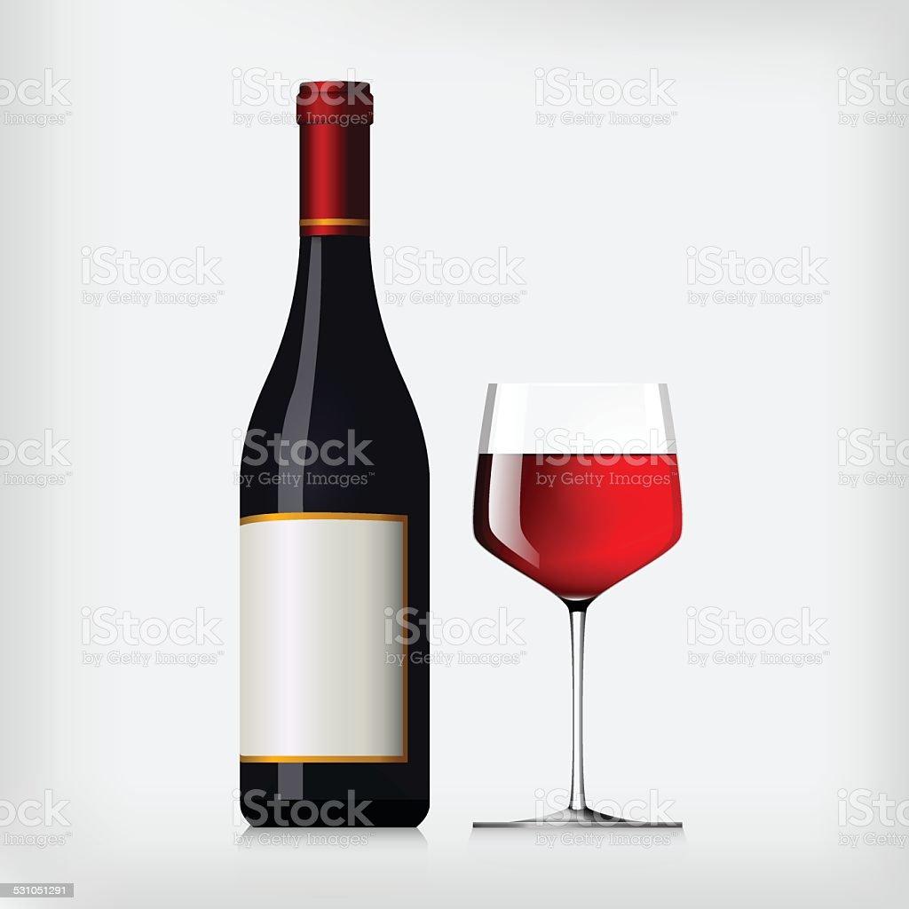 Vin rouge stock vecteur libres de droits libre de droits