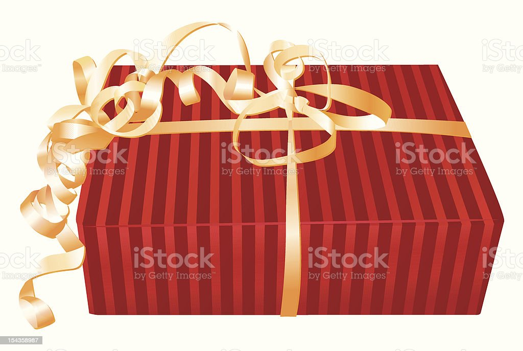 Red wrapped gift royalty-free stock vector art