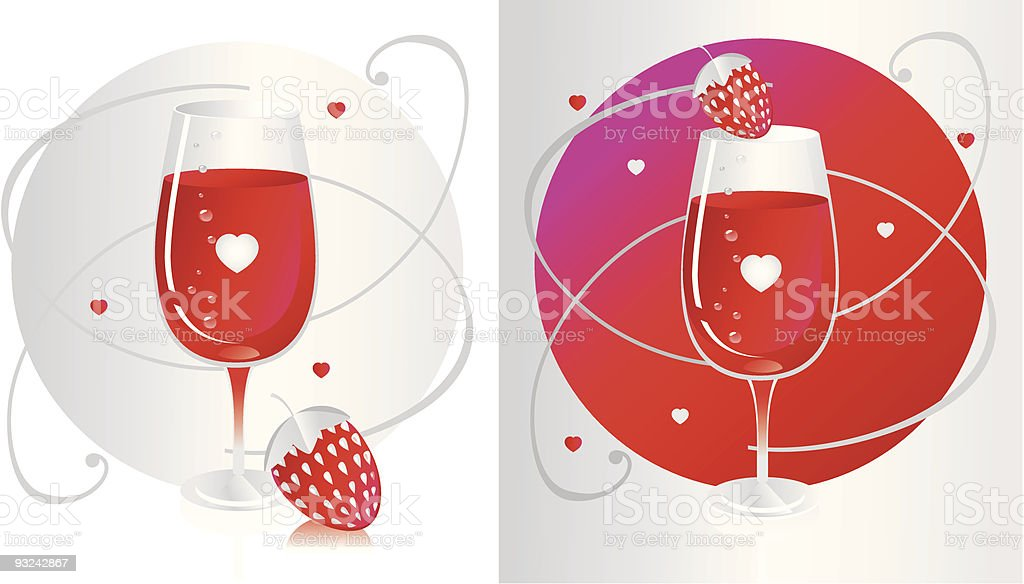 RedGlassStrawberry royalty-free stock vector art