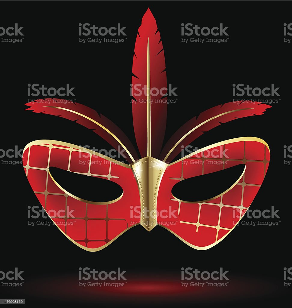 red-golden carnival mask royalty-free stock vector art