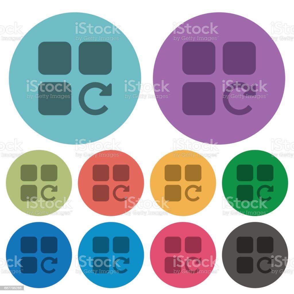 Redo component operation color darker flat icons vector art illustration