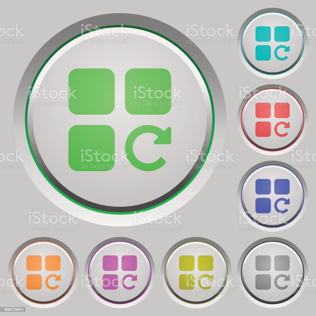 Redo component operation push buttons vector art illustration