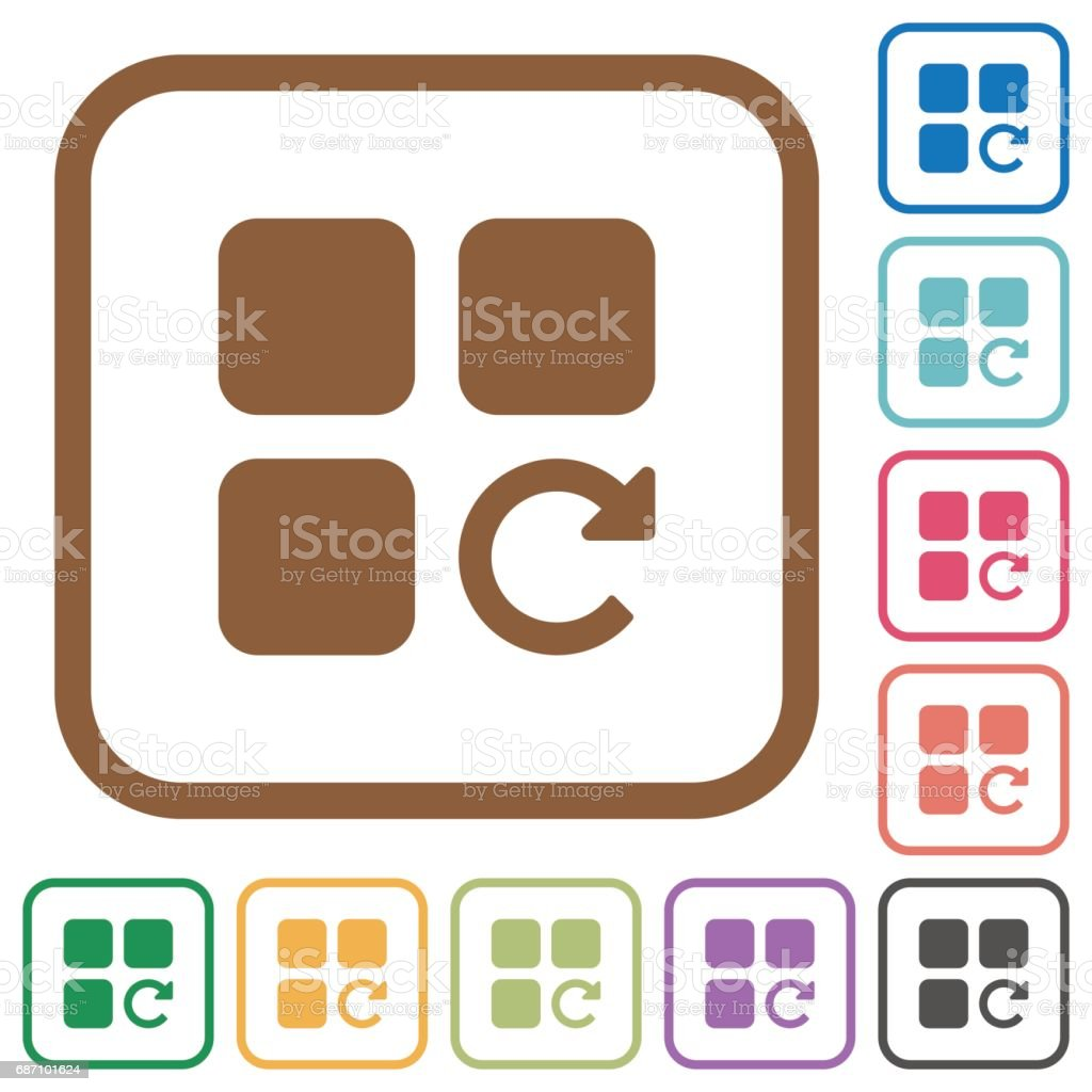Redo component operation simple icons vector art illustration