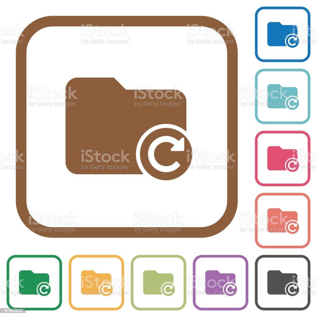 Redo directory last operation simple icons vector art illustration