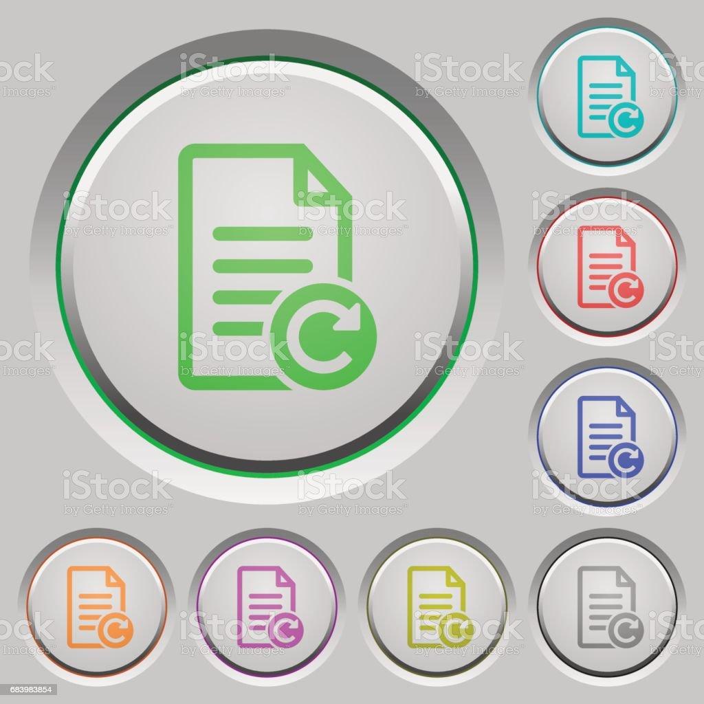 Redo document changes push buttons vector art illustration