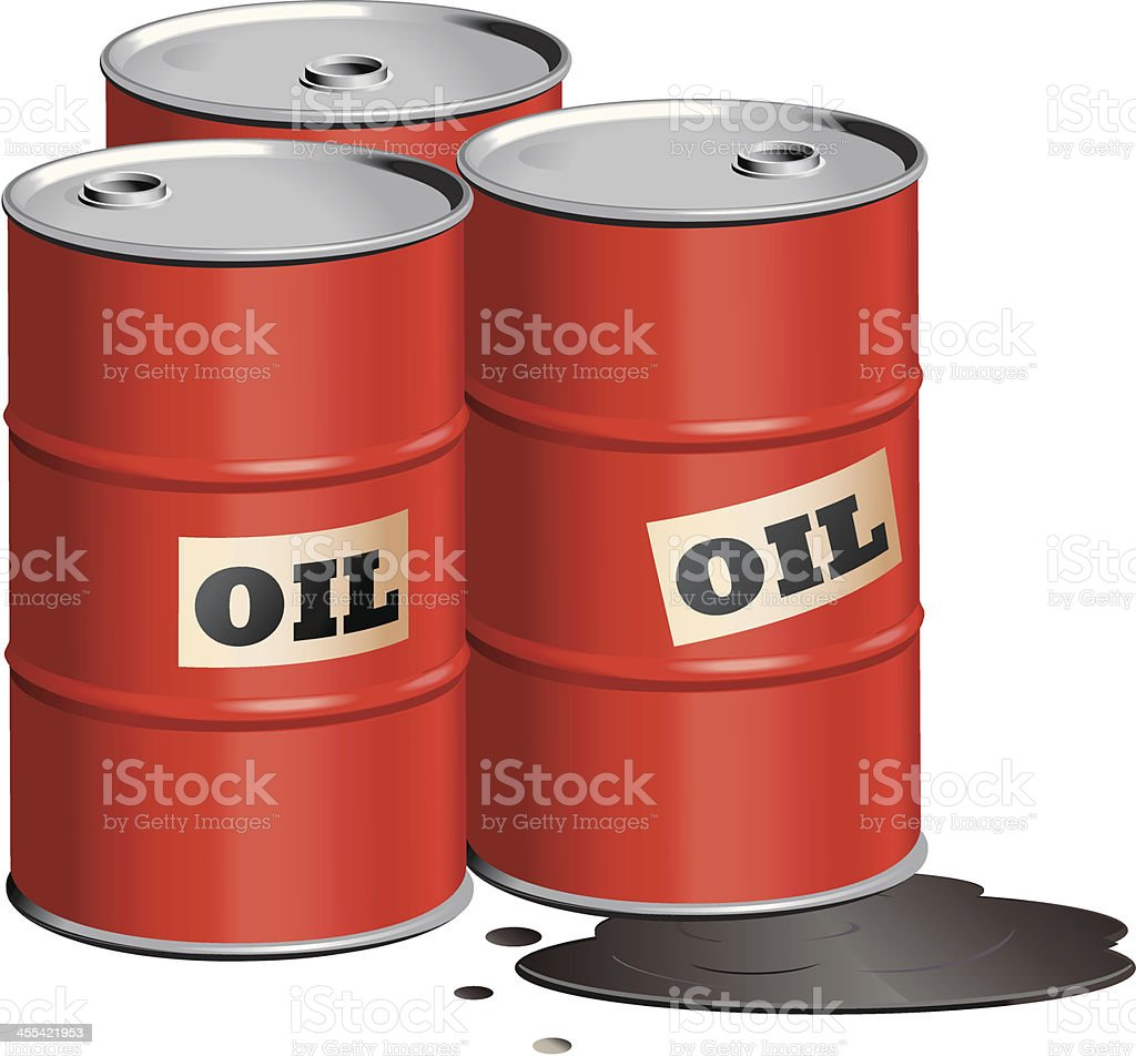Red-oil-drums vector art illustration