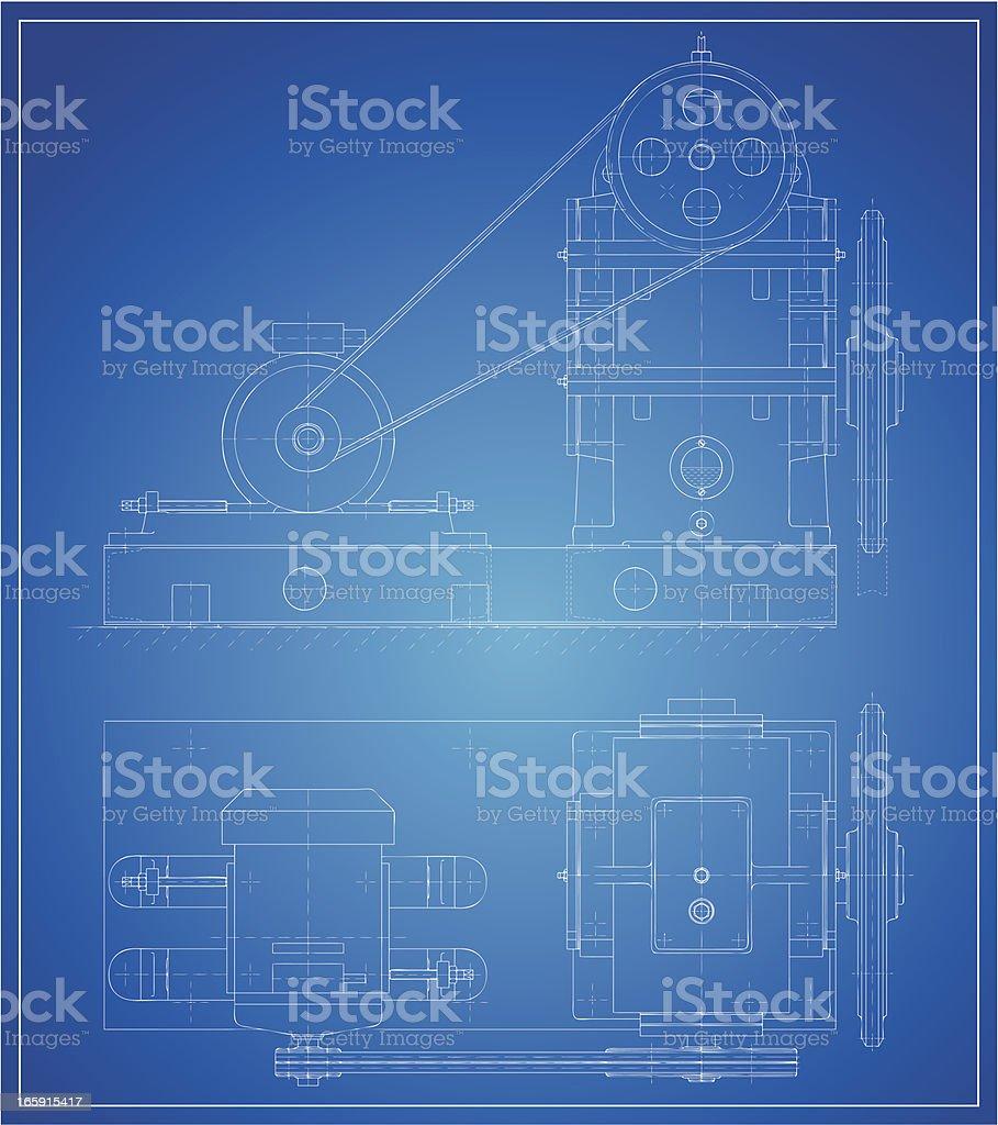 Reducing gear royalty-free stock vector art
