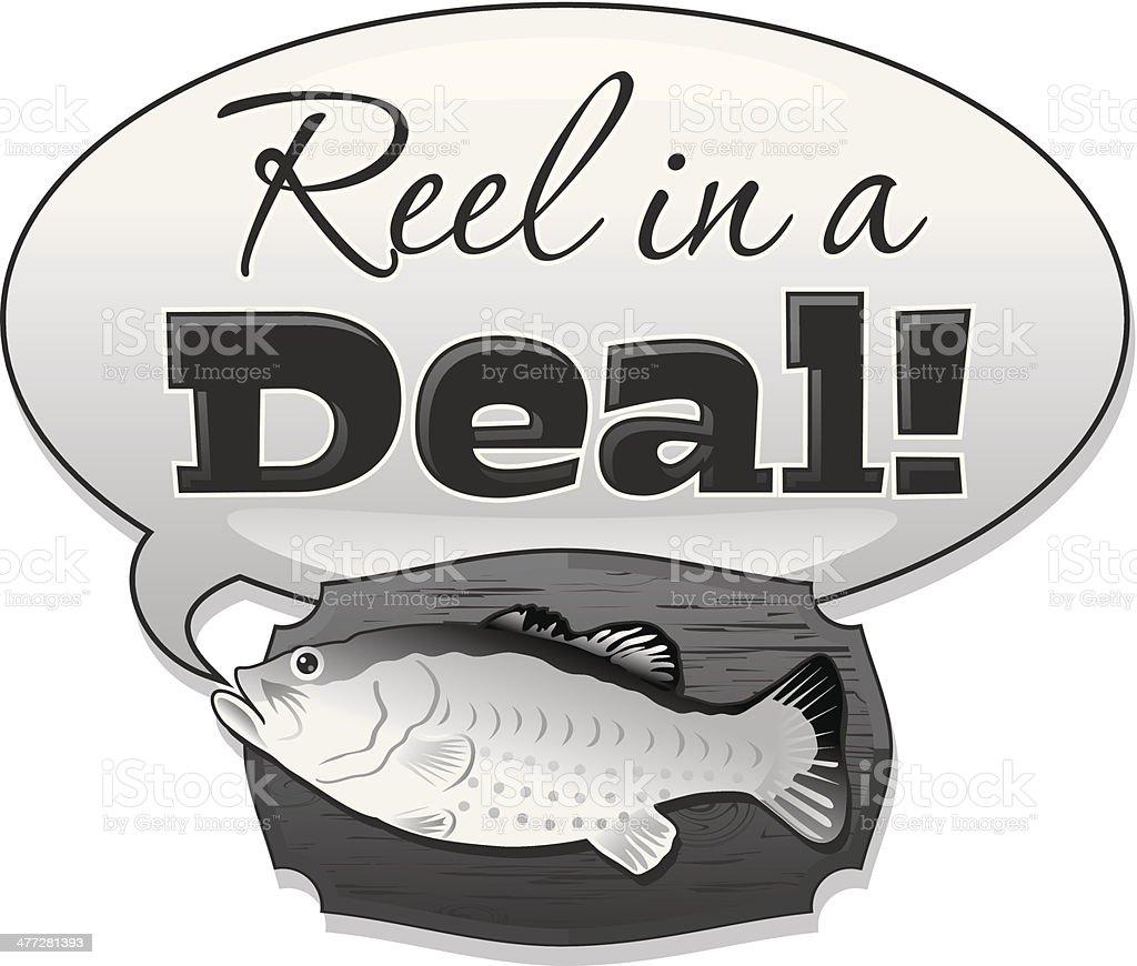 Reel Deal Heading royalty-free stock vector art