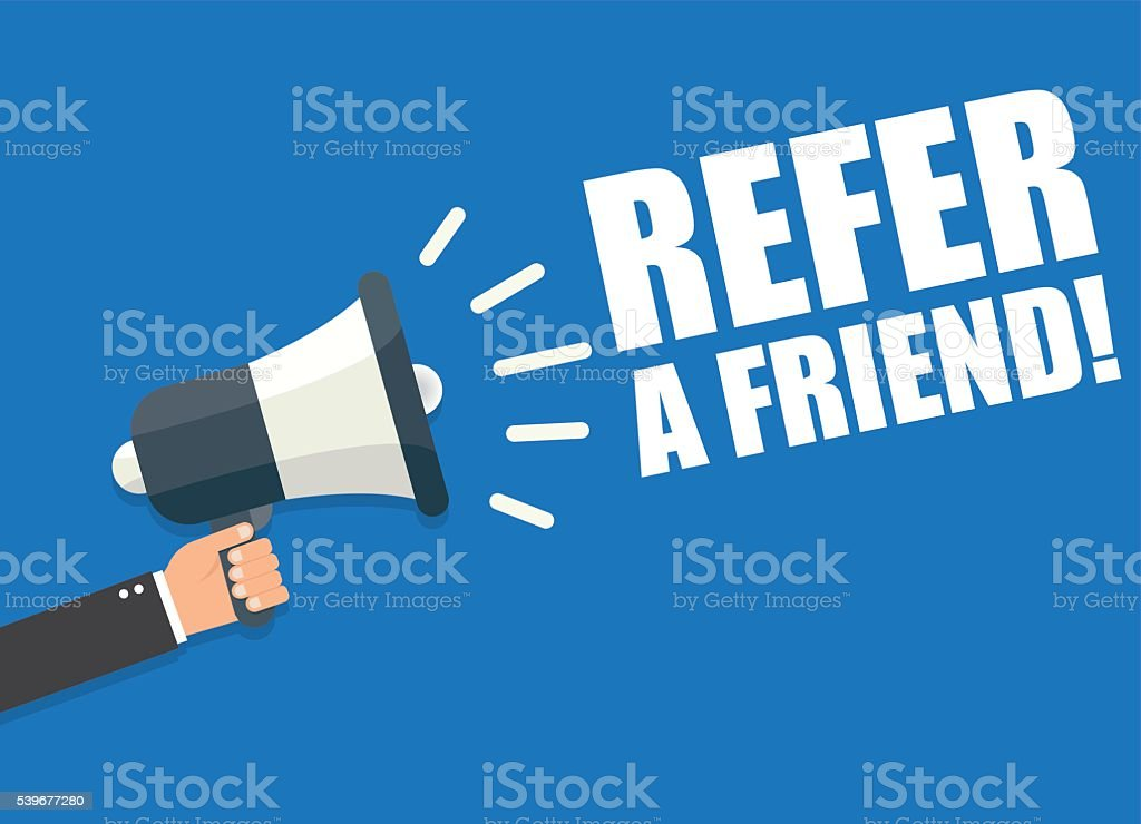 Refer a Friend vector art illustration