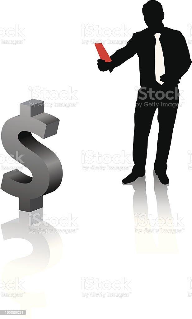 Referee dollar vector art illustration