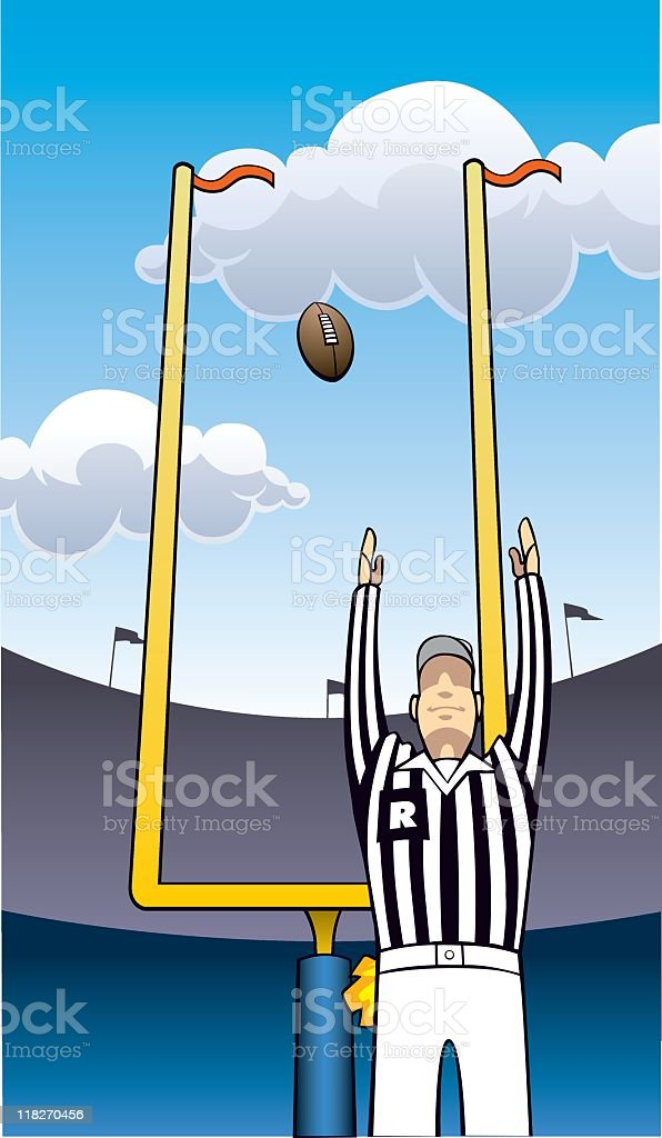 Referee & Goal Posts royalty-free stock vector art