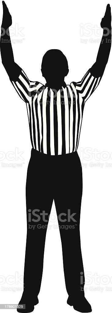 Referee Goal vector art illustration