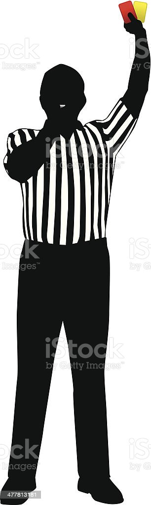 Referee Penalty Cards vector art illustration
