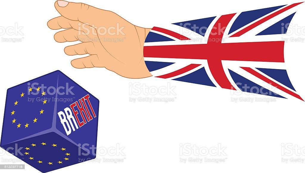 UK referendum 2017 concept BREXIT vector art illustration