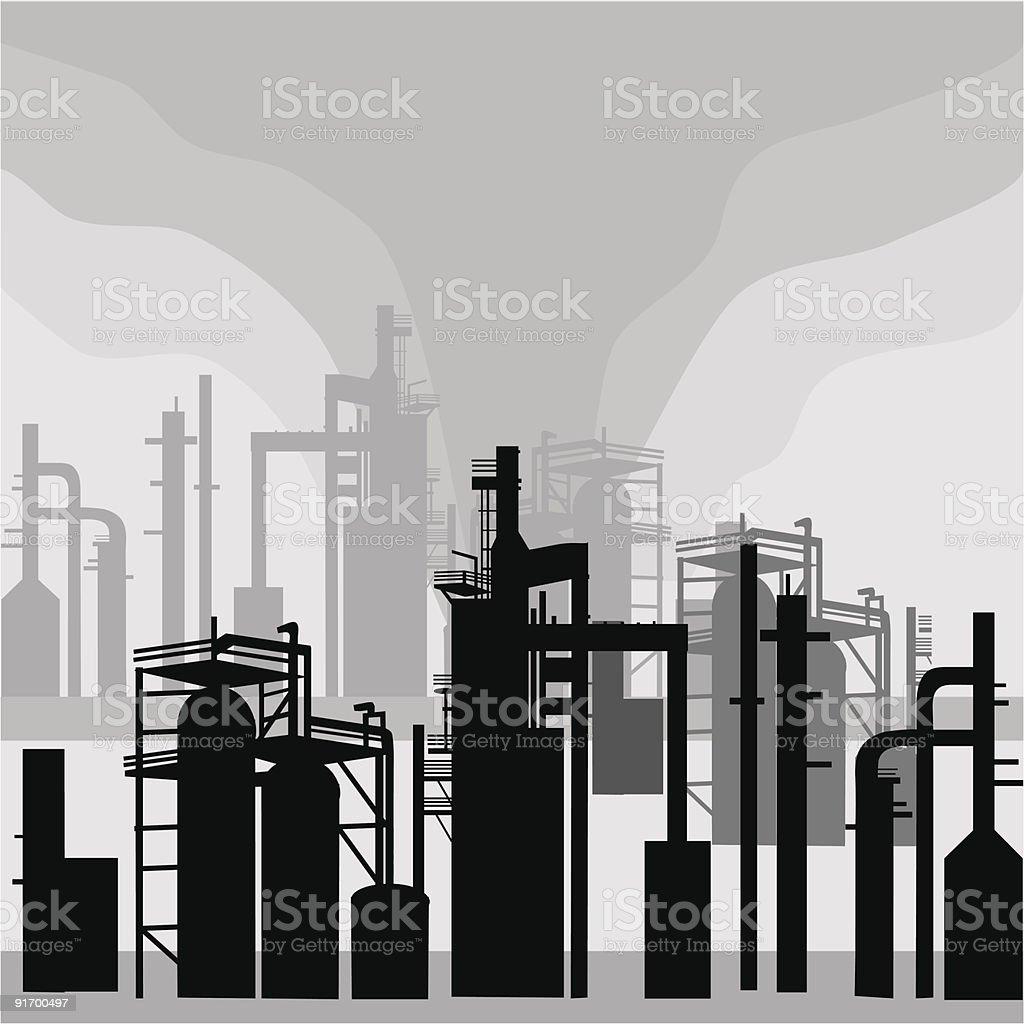 Refinery Environment vector art illustration