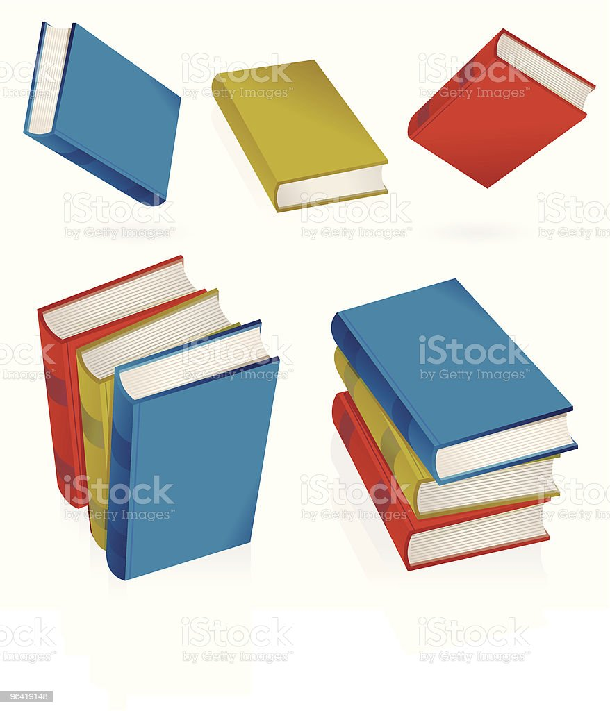 Reflecting Books royalty-free stock vector art