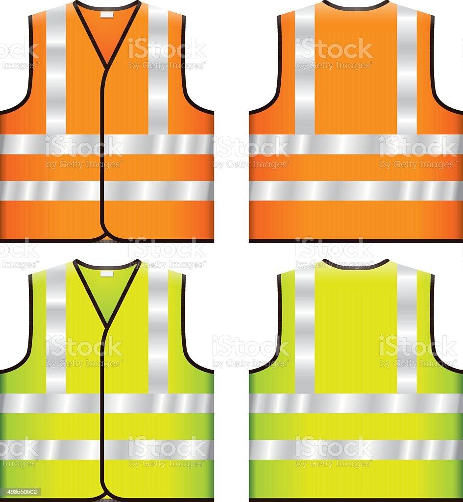 Reflective Safety Vest vector art illustration